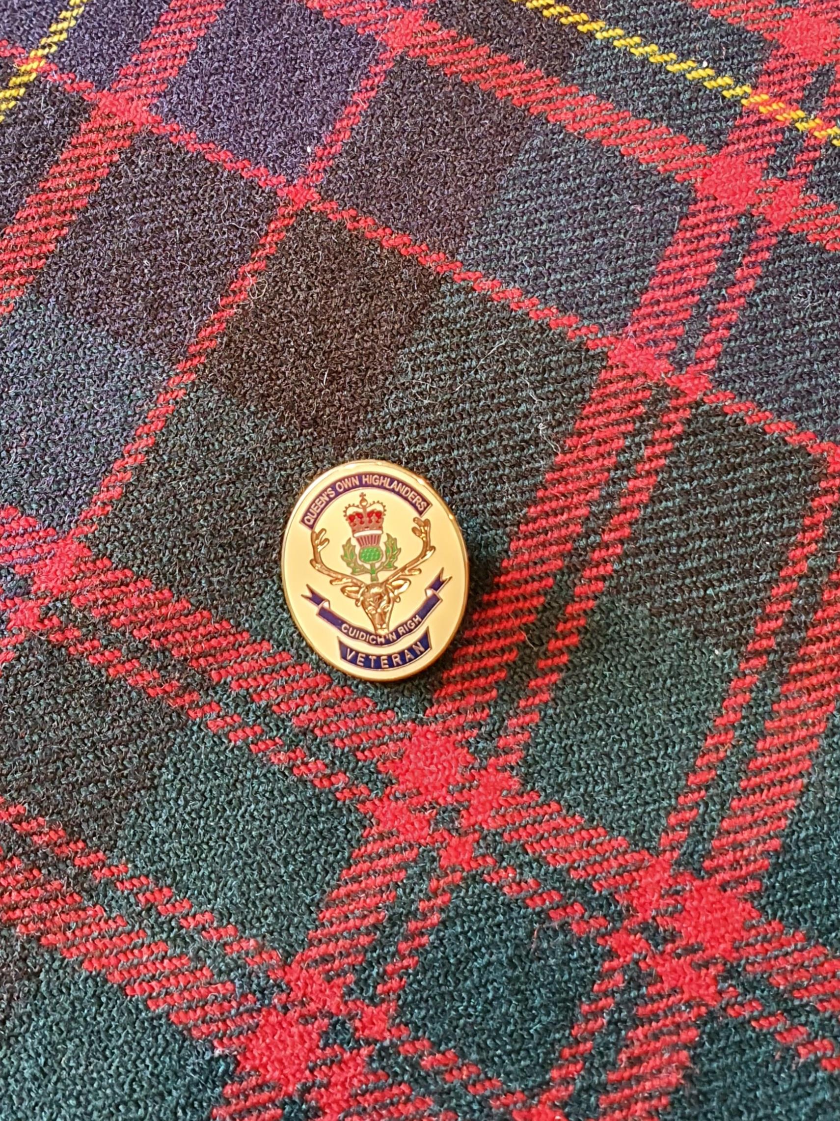 Queen's Own Highlanders Veterans Badge