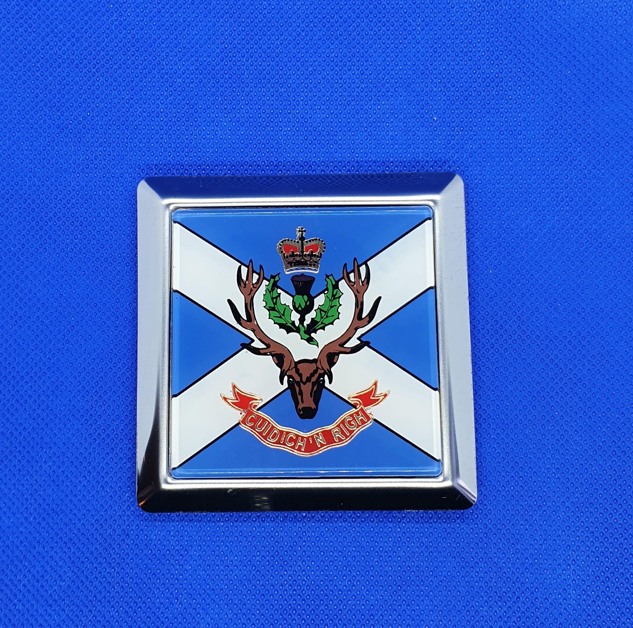 Queen's Own Highlander Car Badge