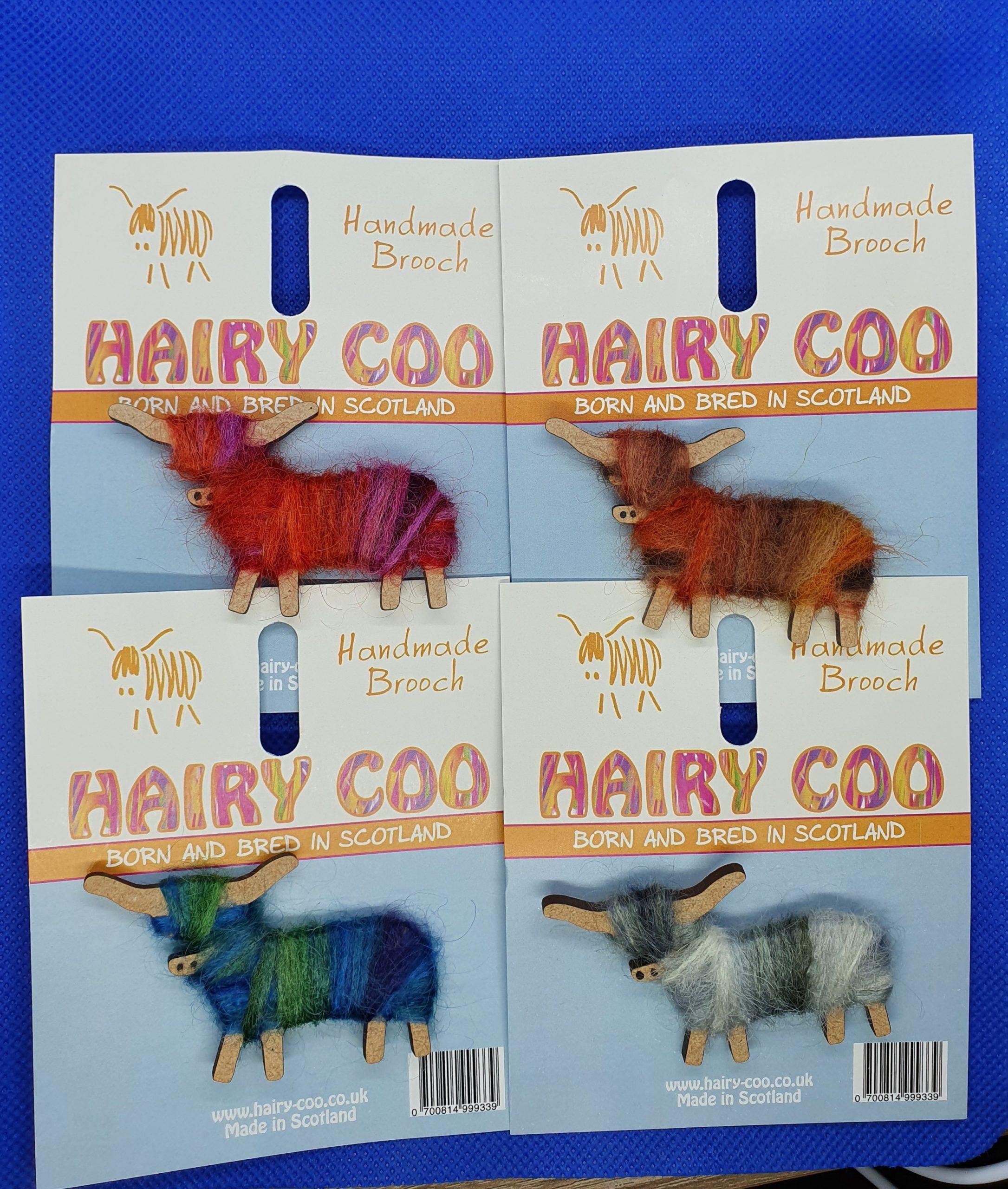 Hairy Coo Brooch