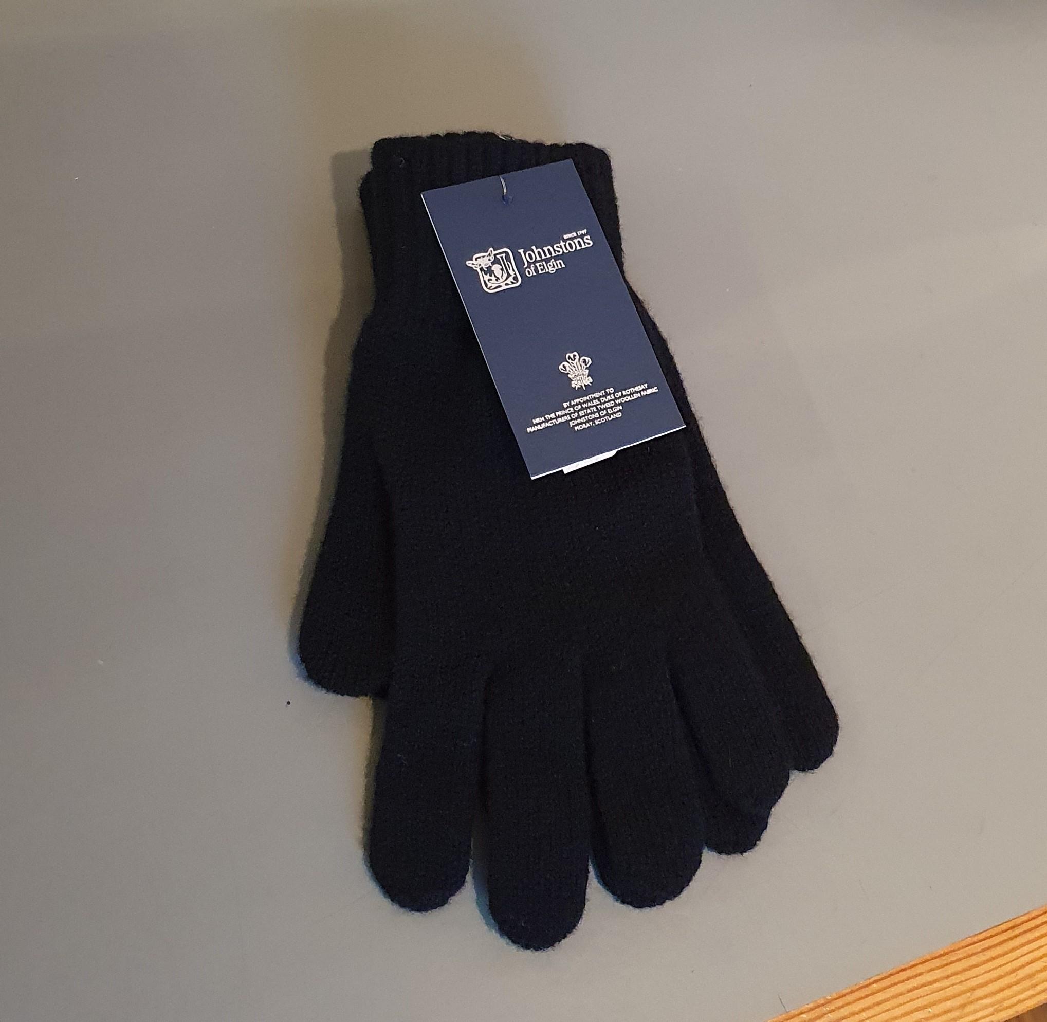 100% Lambswool Gloves - Black