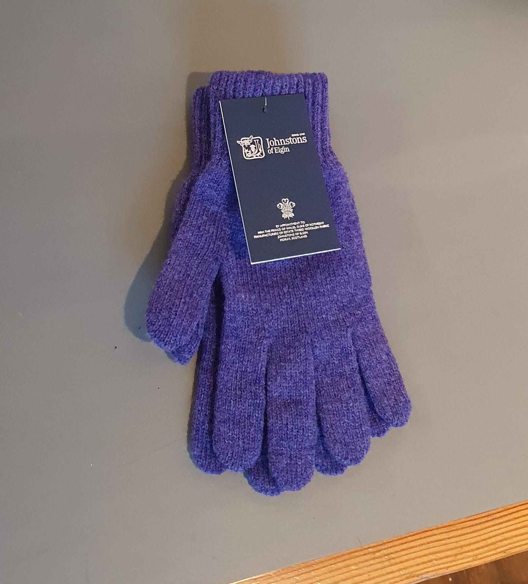 100% Lambswool Gloves - Heliotrope