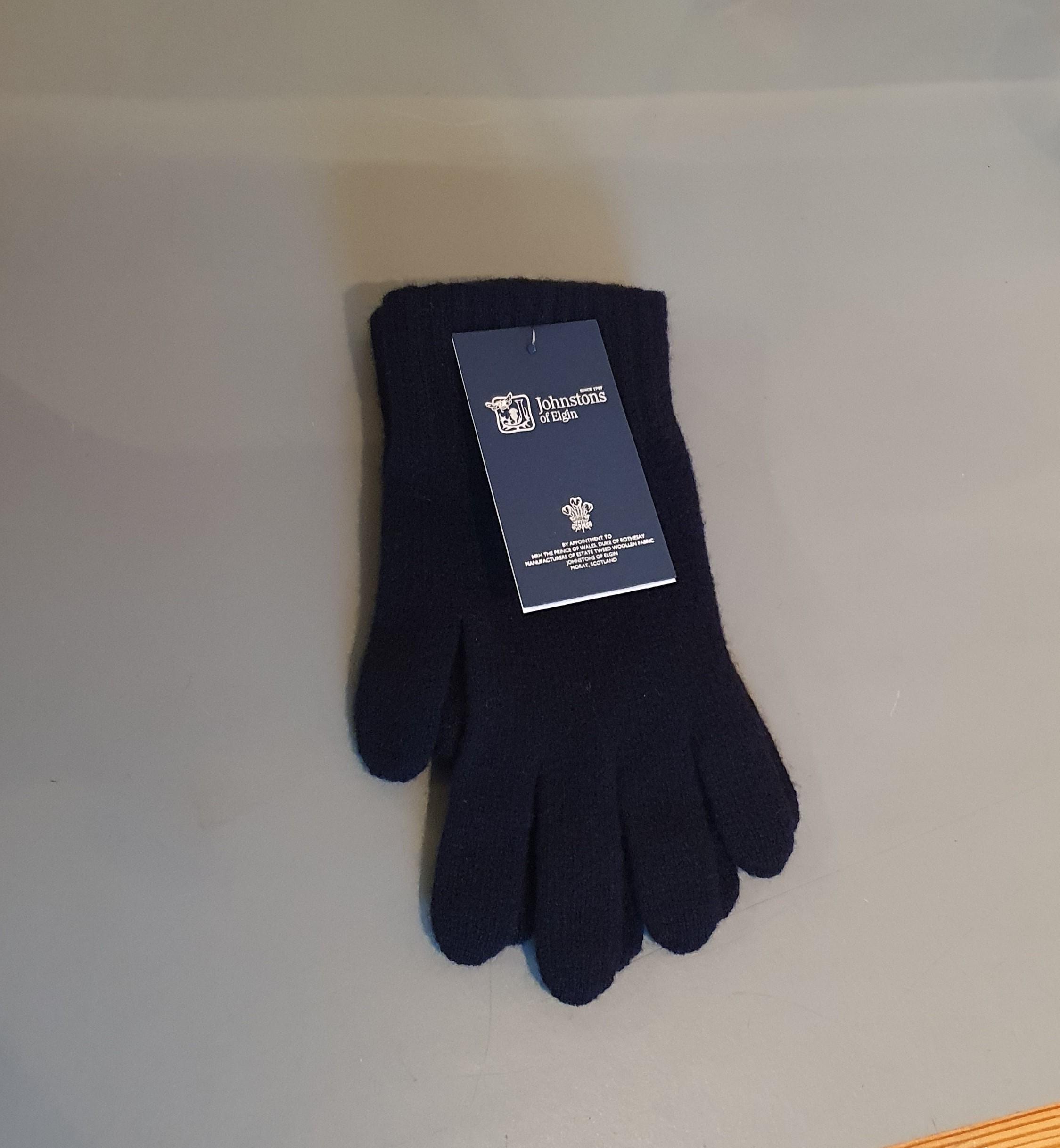 100% Lambswool Gloves - Navy