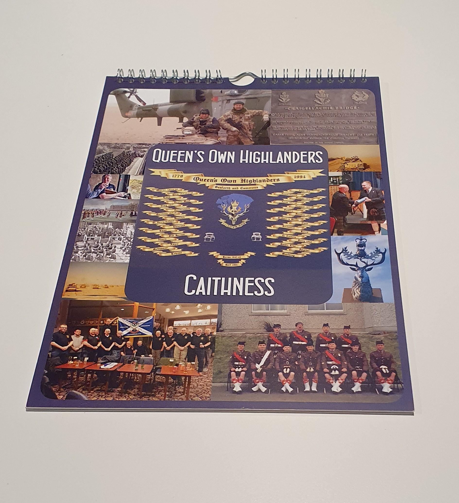 Queen's Own Highlanders Caithness Branch Calendar 2021