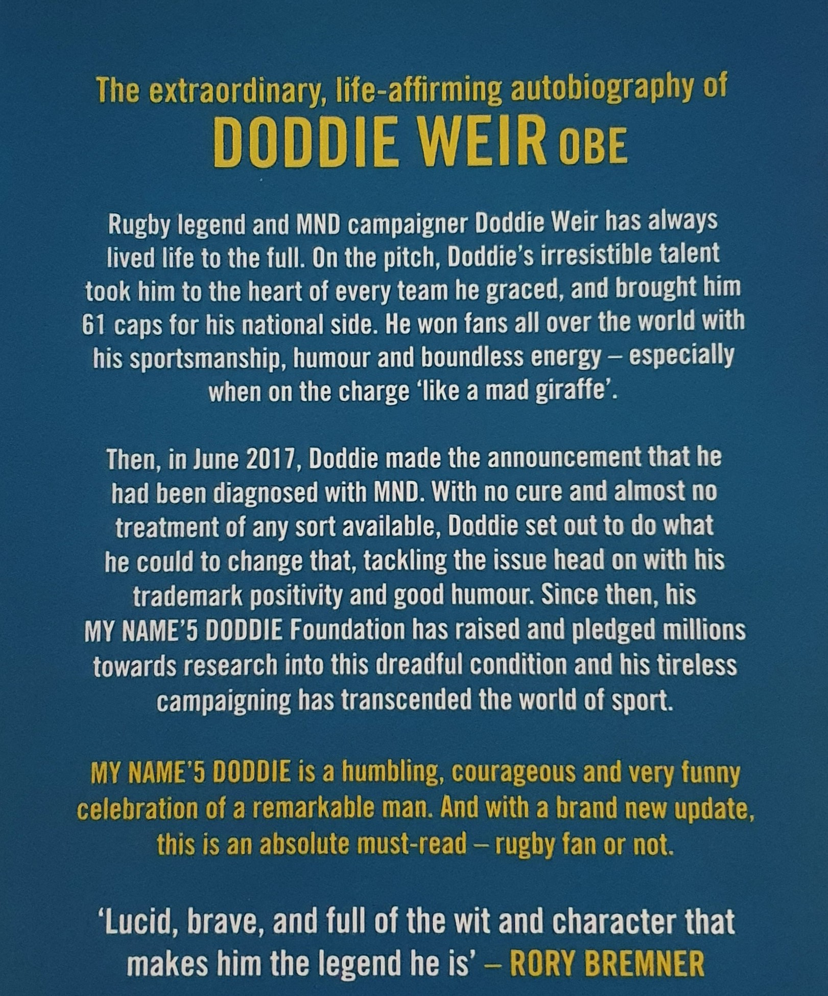 Book - My Name'5 Doddie