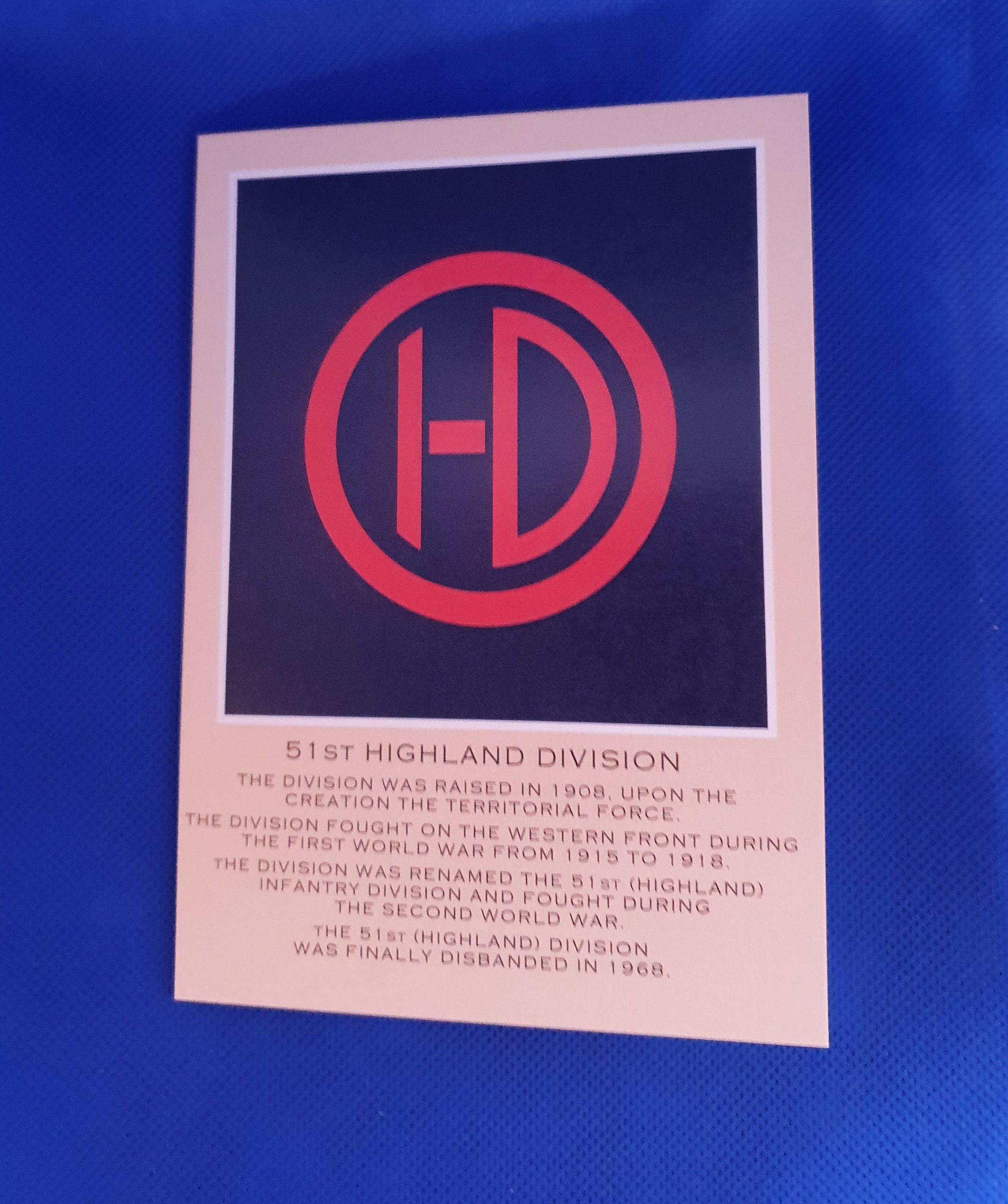 51st Highland Division Card