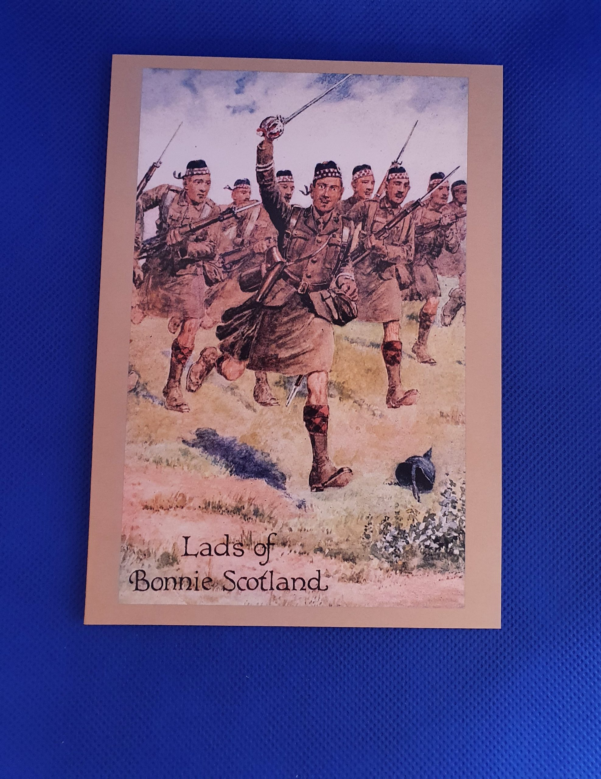 Card - The Great War 'Lads of Bonnie Scotland'