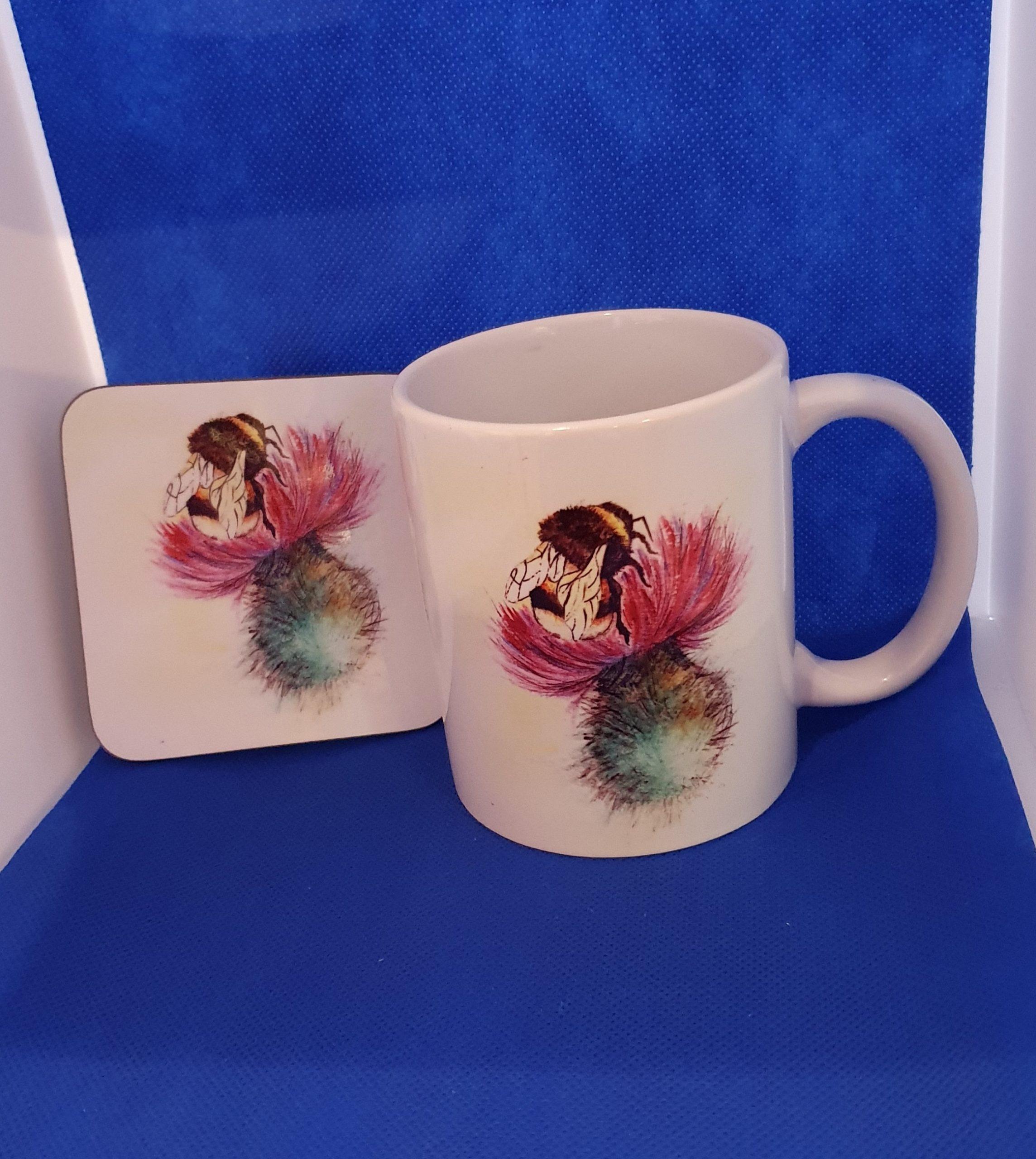 Coaster & Mug Thistle