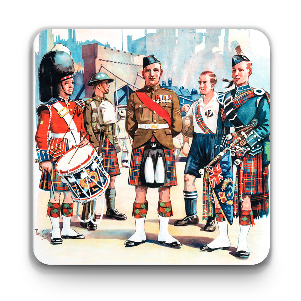 The Queen's Own Cameron Highlanders Coaster