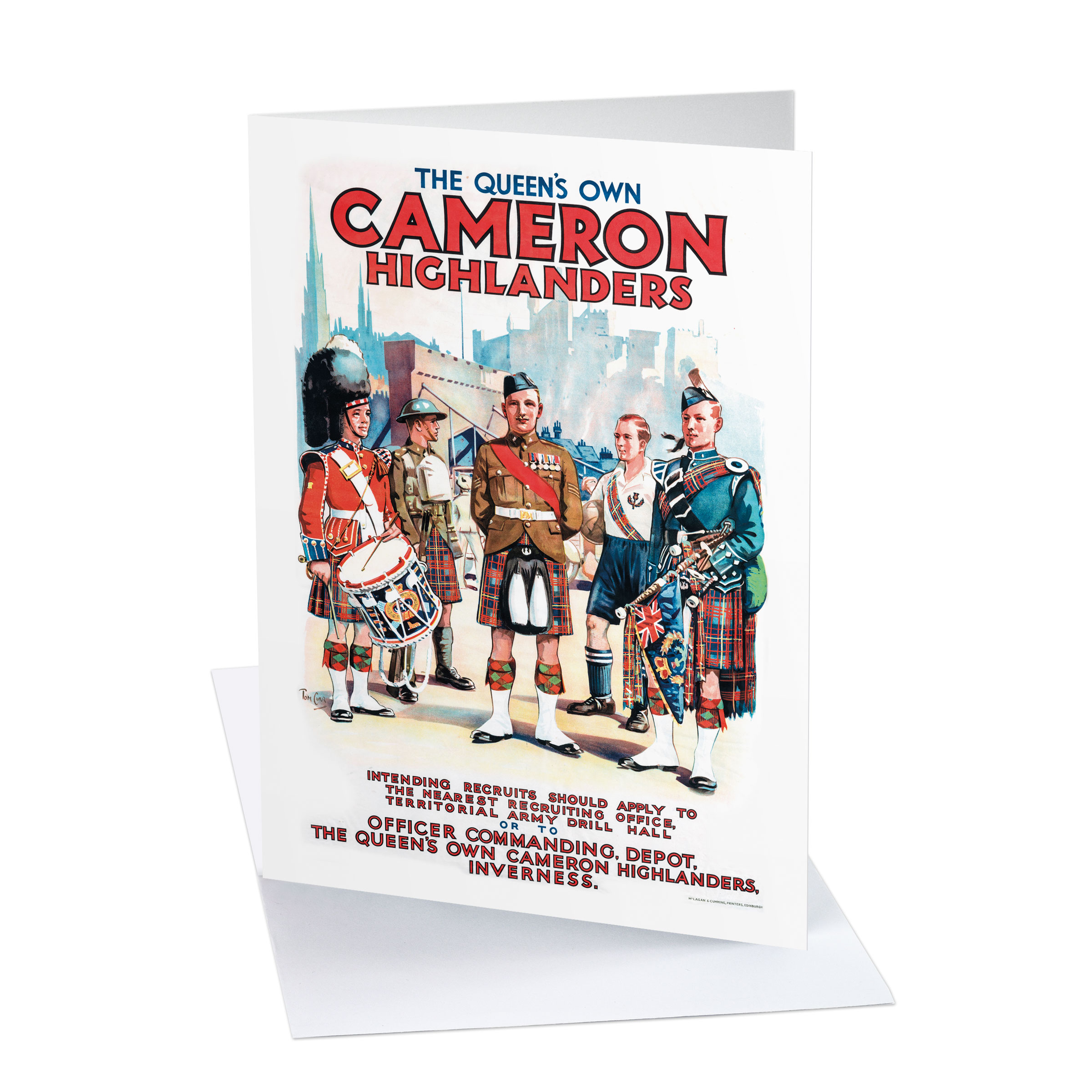 Card - The Queen's Own Cameron Highlanders greeting