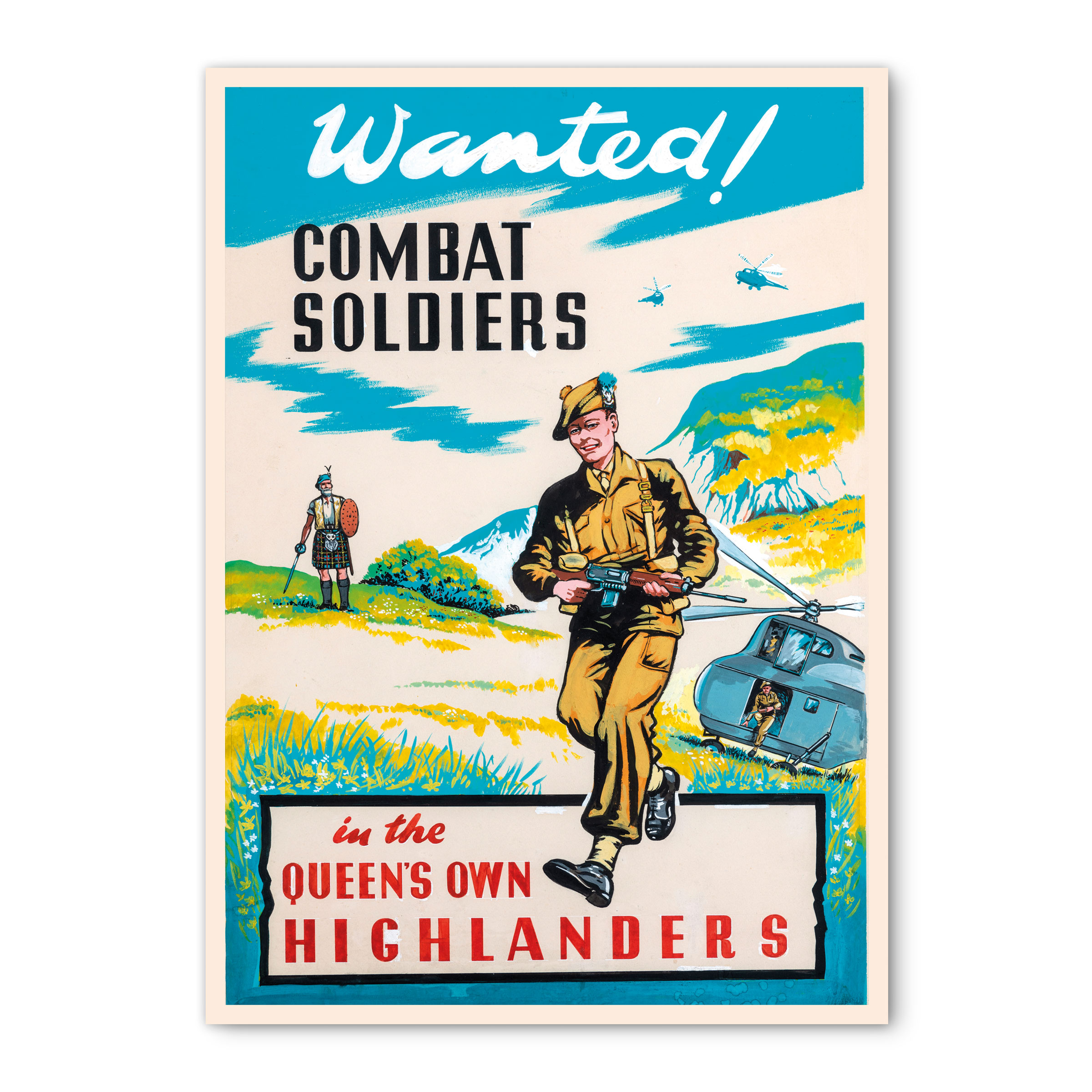 Card - Queen's Own Highlanders