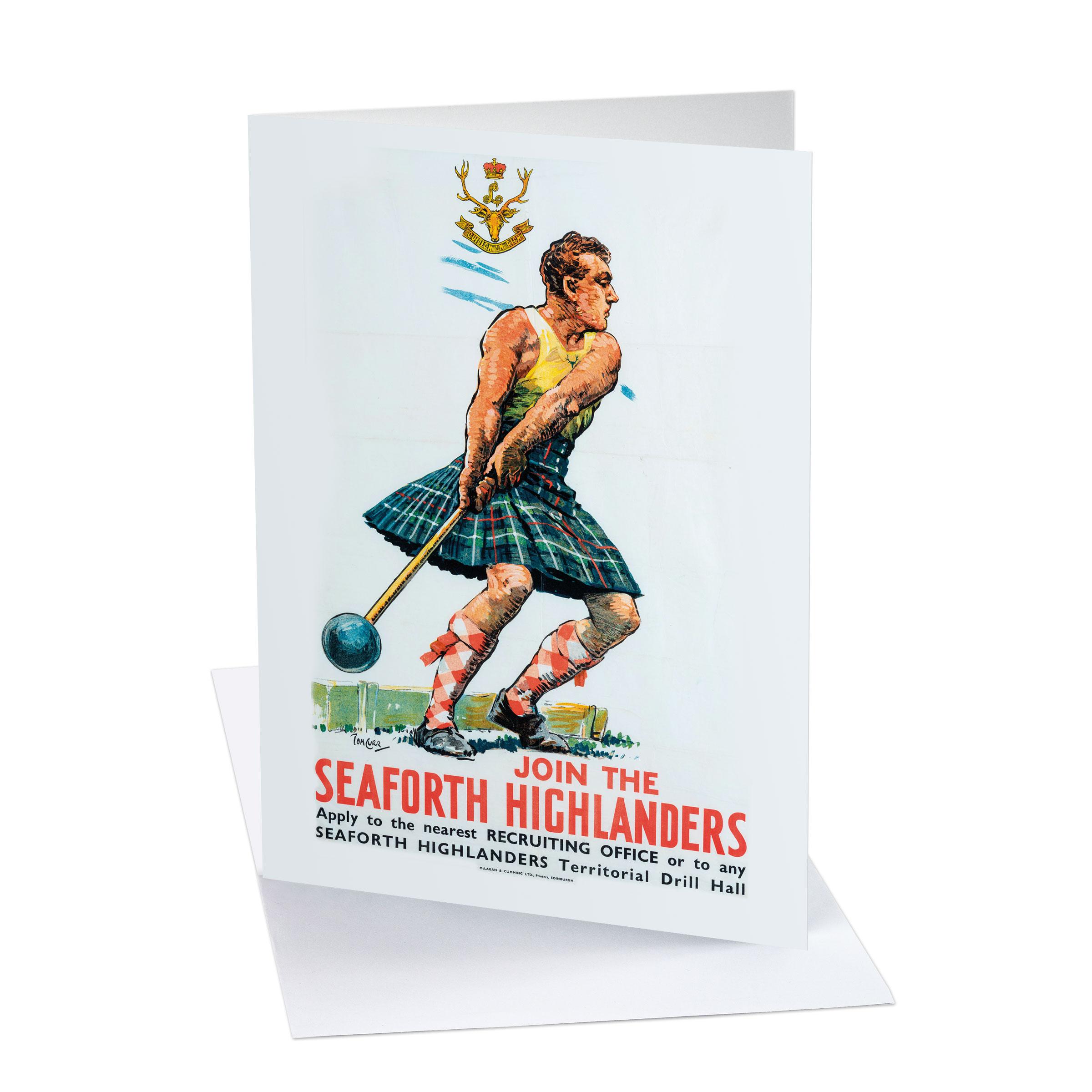 Card - Seaforth Highlanders greeting