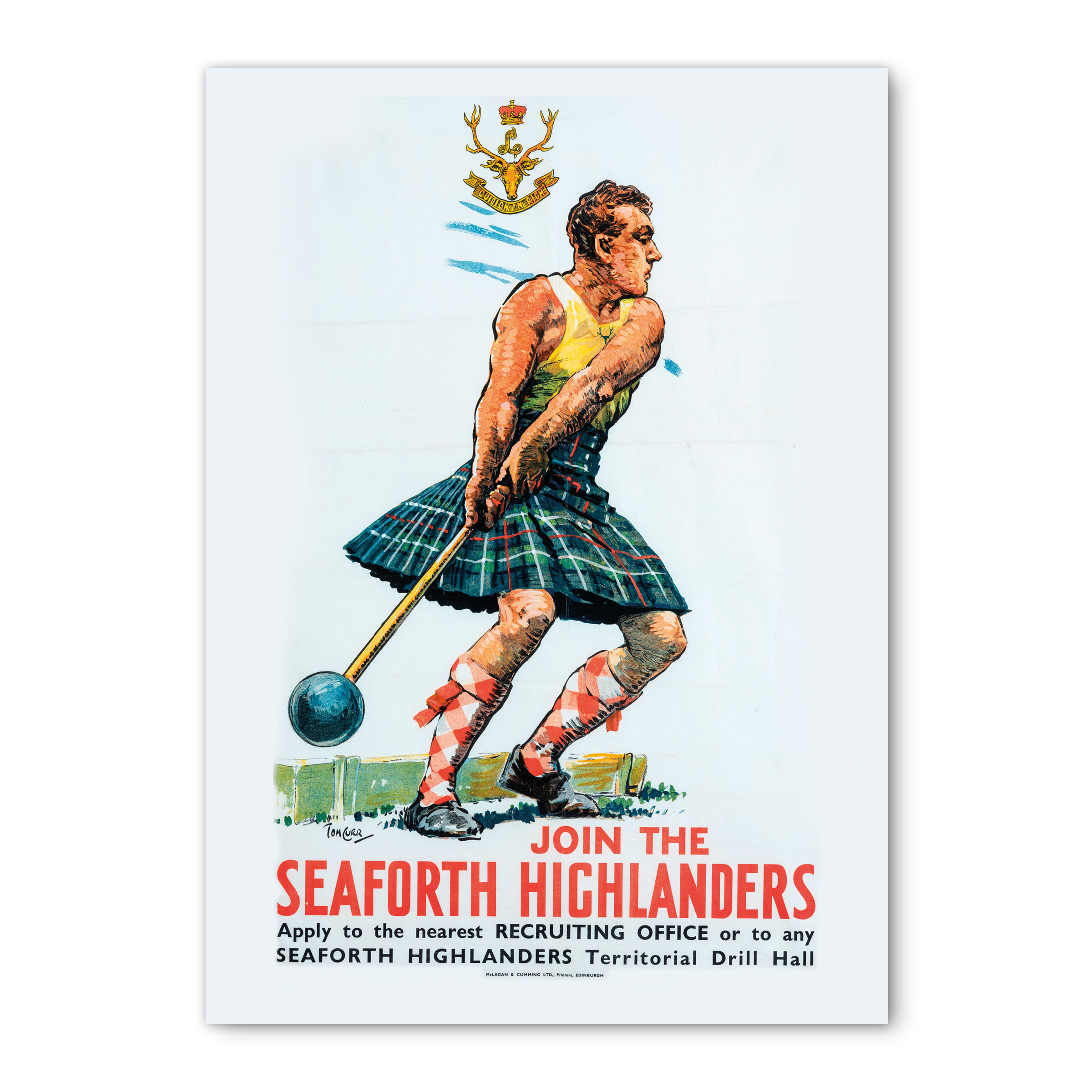 Card - Seaforth Highlanders greeting