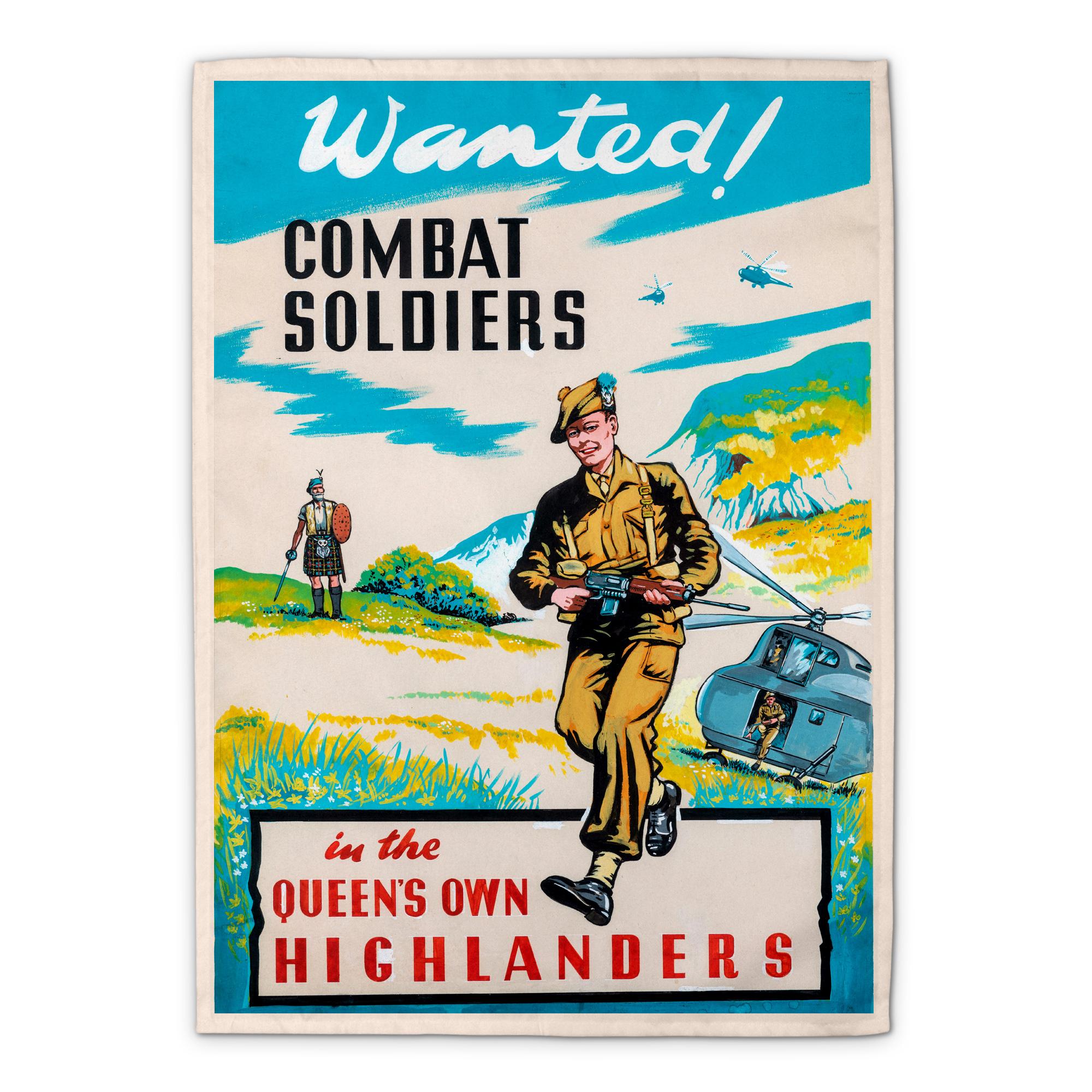 Queen's Own Highlanders Tea Towel