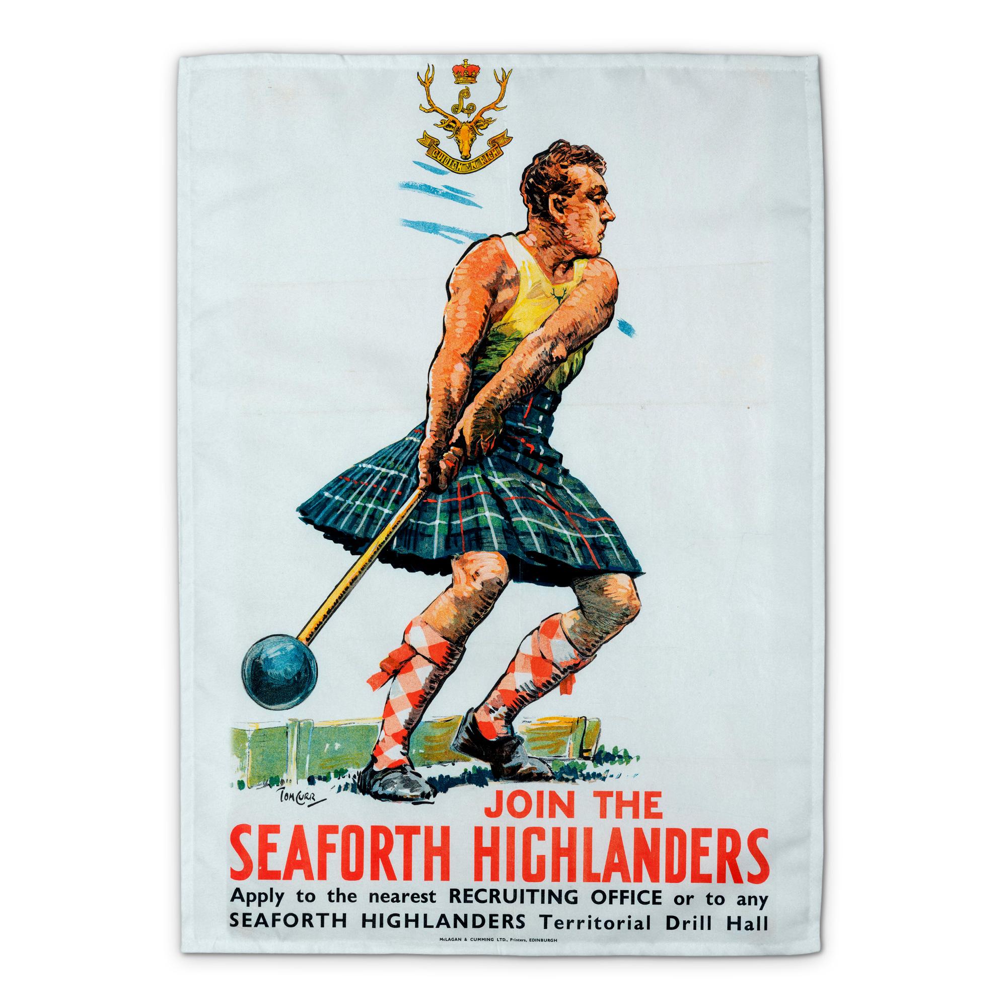 Join the Seaforth Highlanders Tea Towel