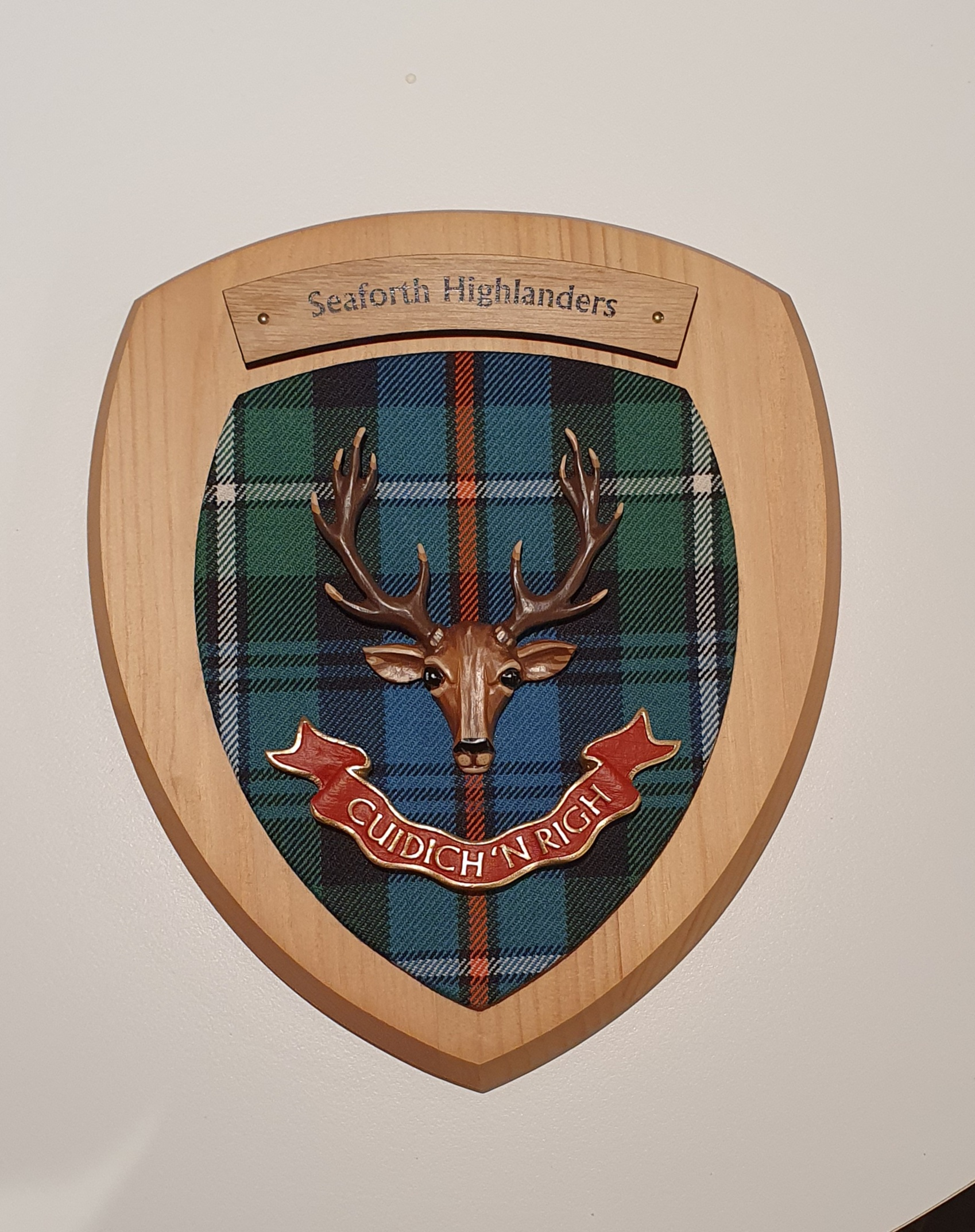Plaque - Seaforth Highlanders Colour