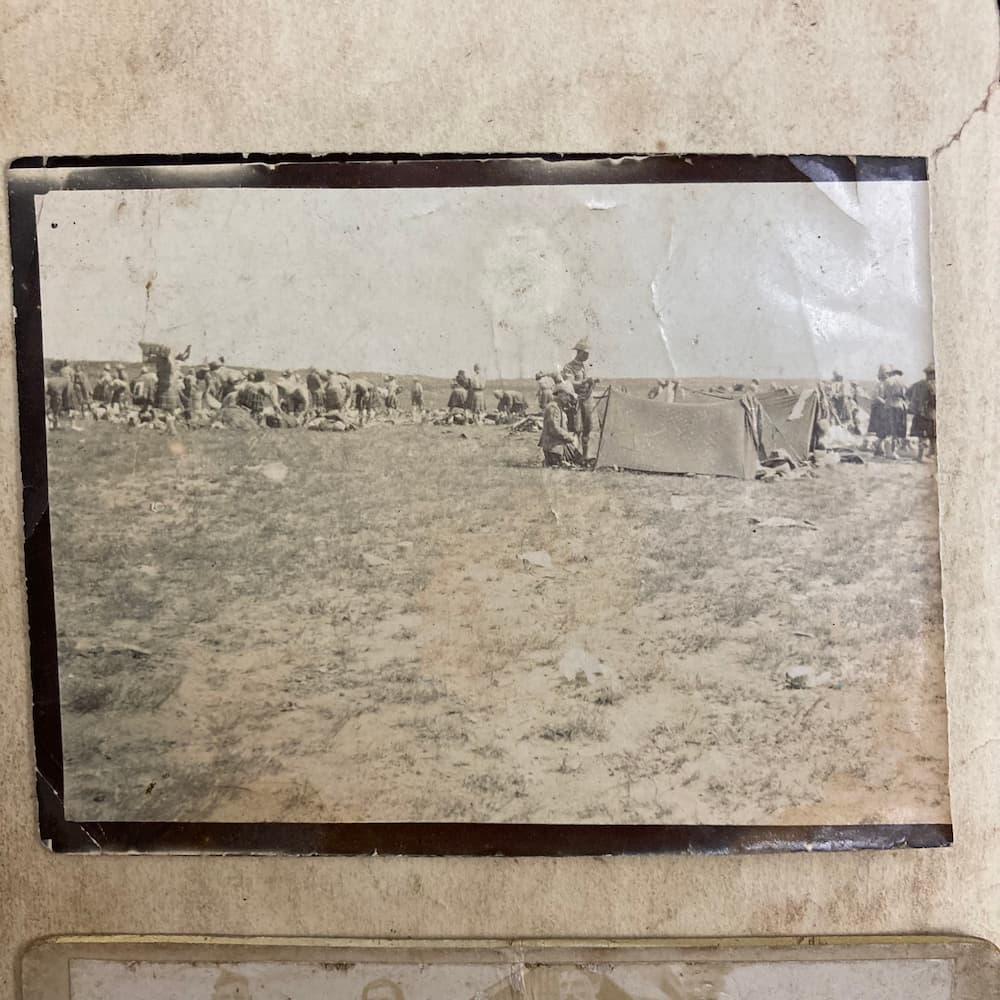 Photograph of camps in South Africa from the diary of John Winning