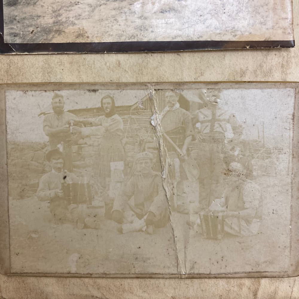A faded photograph of 2nd Seaforth in South Africa, 1899