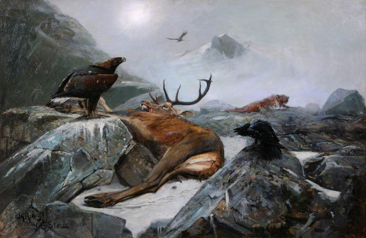 'Carrion' by J G Millais and J S Steel, date unknown, image courtesy of Perth & Kinross Council and Art UK