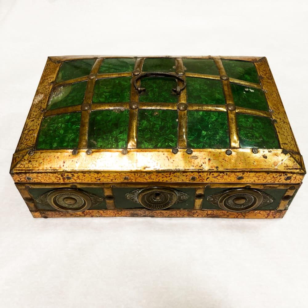 Brass and Enamel Box