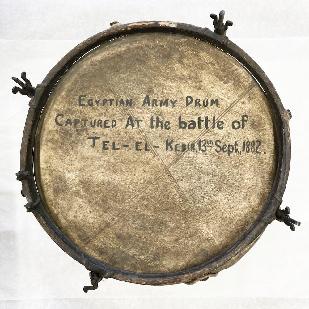 Egyptian army drum taken from Tel-El-Kebir, Tel-El-Kebir