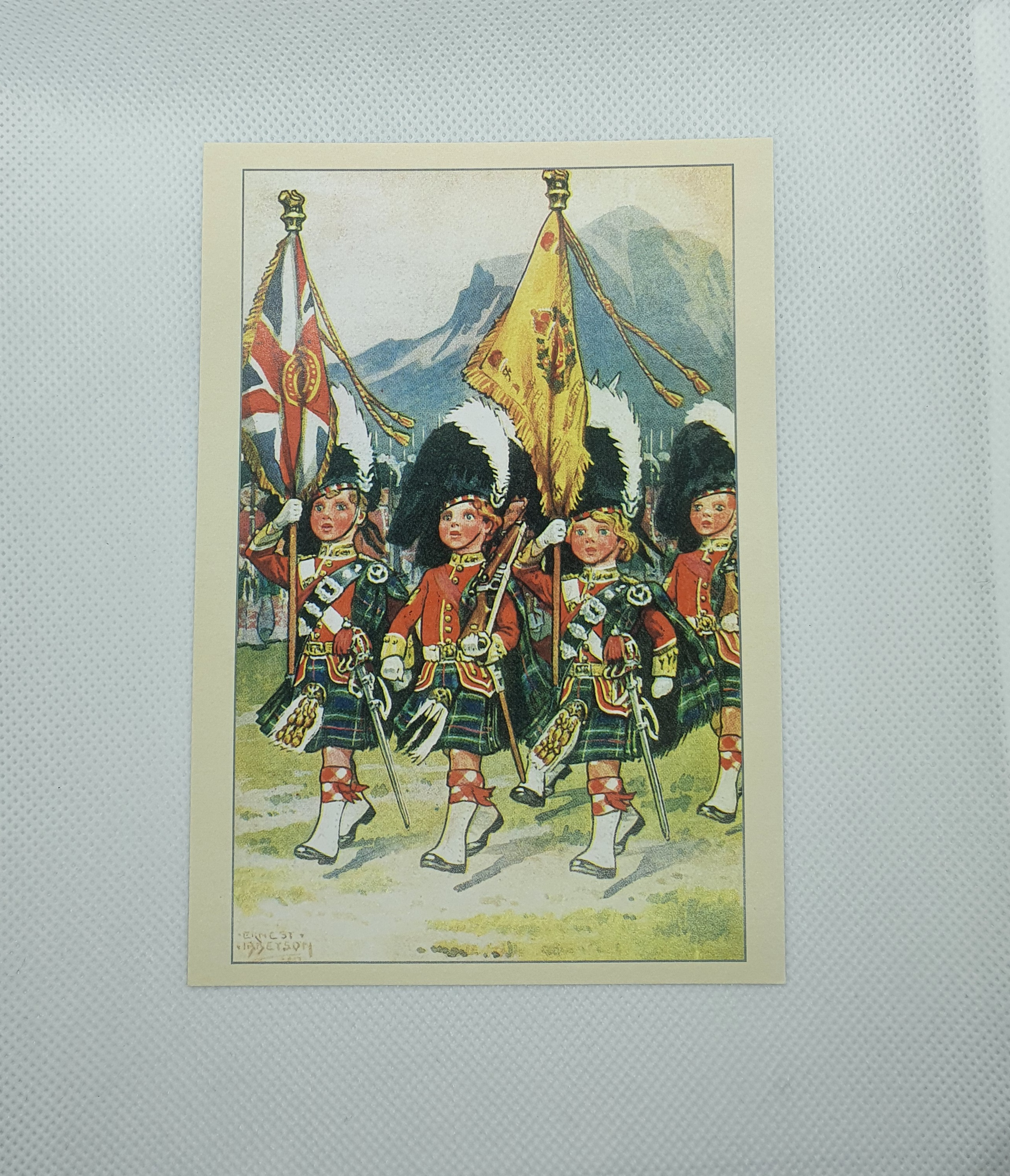 Postcard - 'The Boy Army' Colour Party, Seaforth Highlanders