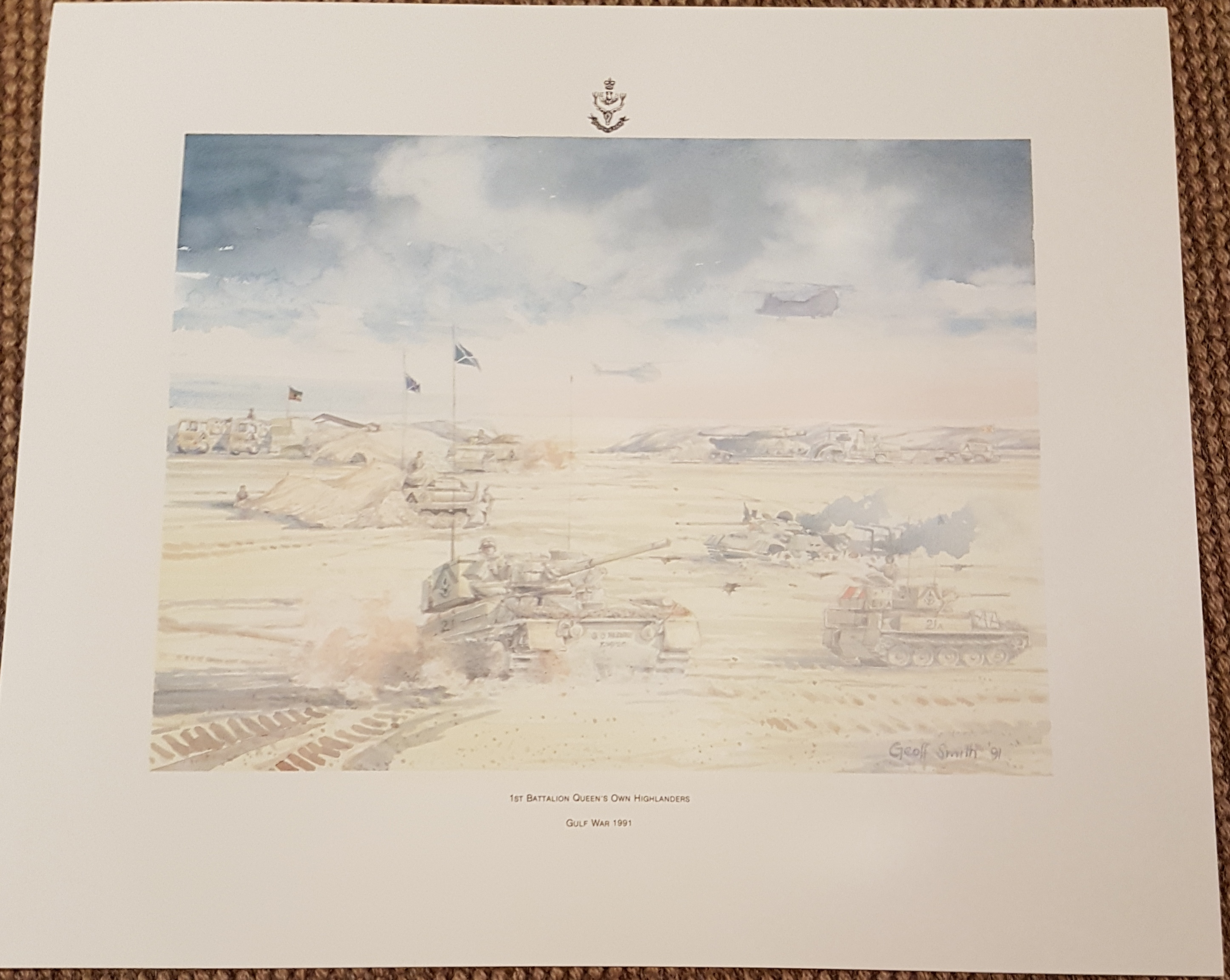 1st Battalion Queen's Own Highlanders Poster