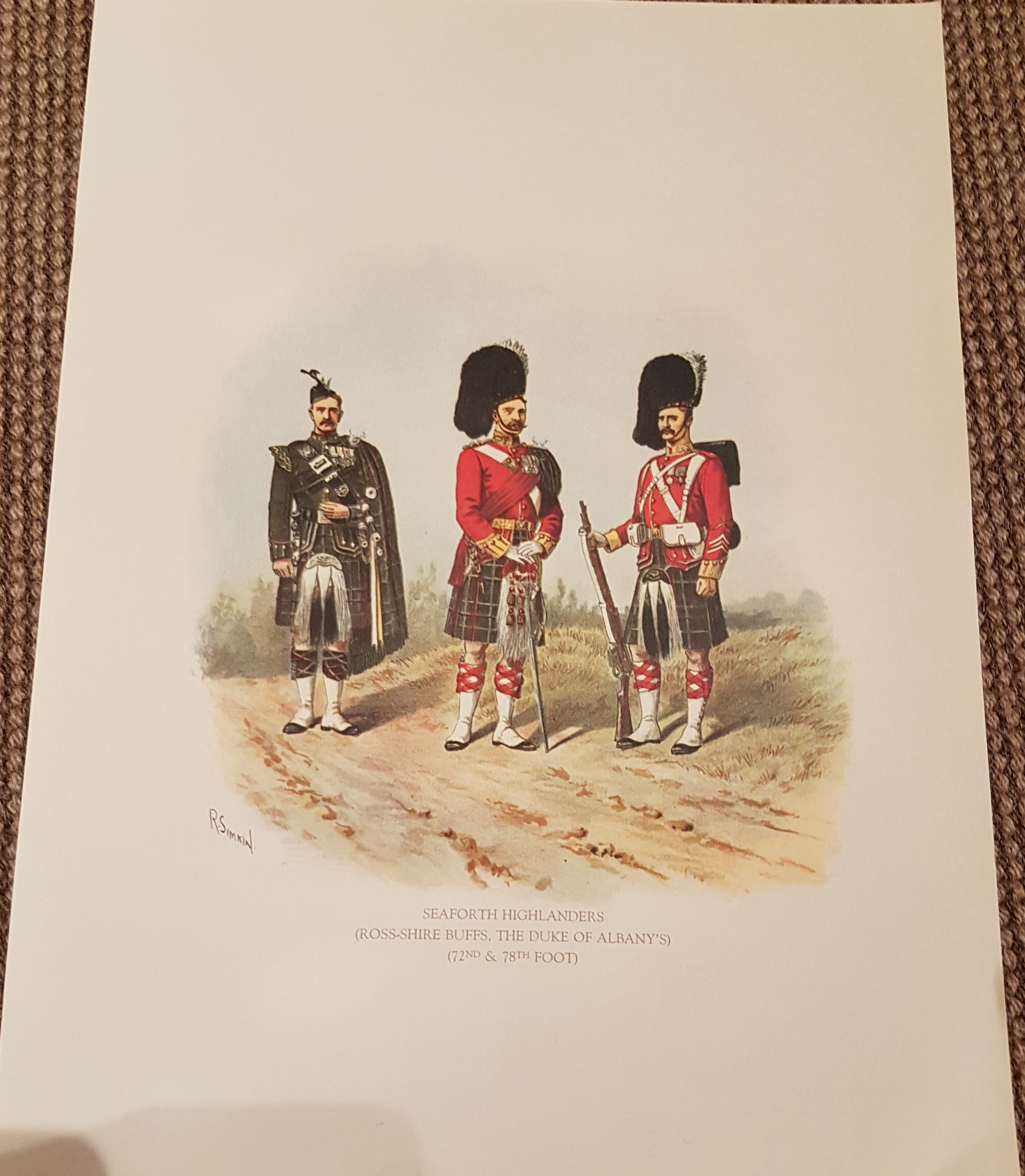 Seaforth Highlanders ( Ross-shire Buffs) poster