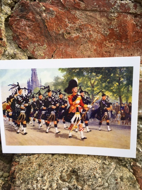 The Pipes & Drums of the 1st Bn. Seaforth Highlanders Christmas Card
