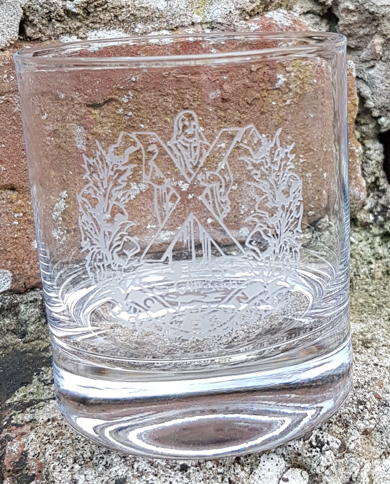 Whisky Glass - The Queens Own Cameron Highlanders